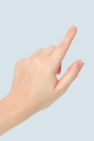 Hand deutet mit Zeigefinger